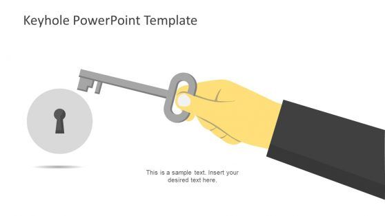 Illustration of Key and Keyhole PowerPoint