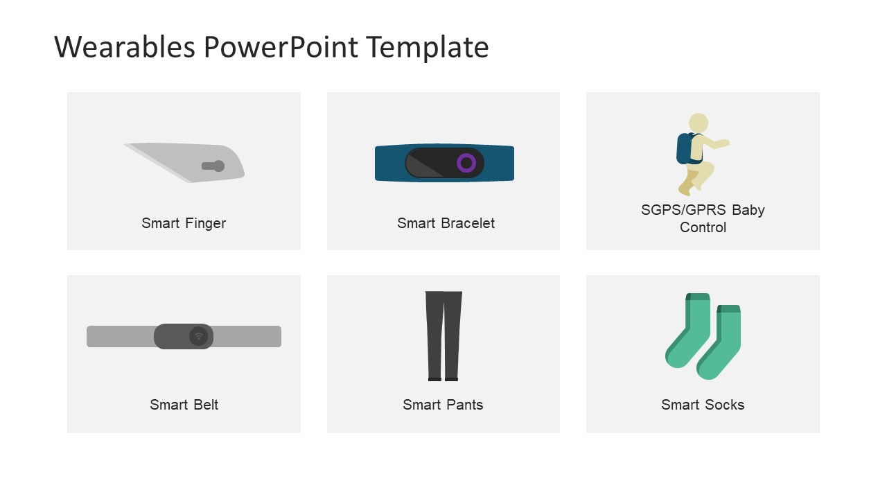 Editable PowerPoint Vector Graphic Wearables