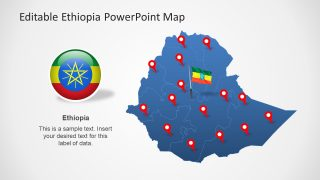 Editable Ethiopia Map Template for PowerPoint