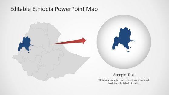 Creative Display Map of Ethiopia