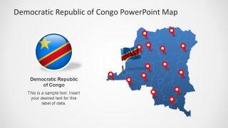 Congo Editable Map Template