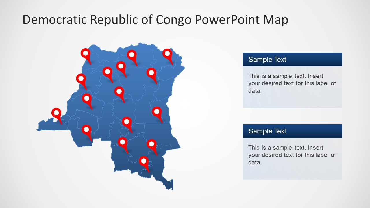 Outline PowerPoint Congo Map