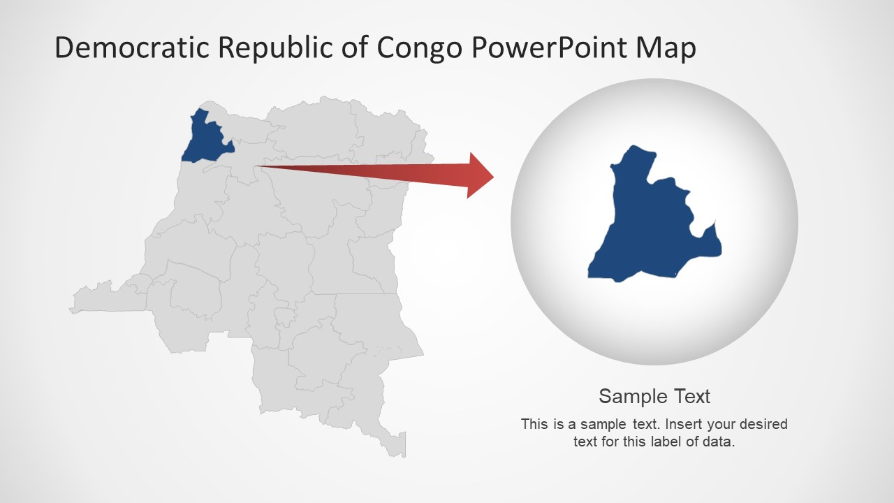 Slide of Congo Editable Map Template