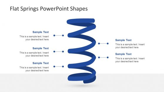 Flat PowerPoint Shape of Spiral Springs