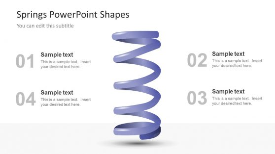 PPT Slide of 4 Step PowerPoint Springs