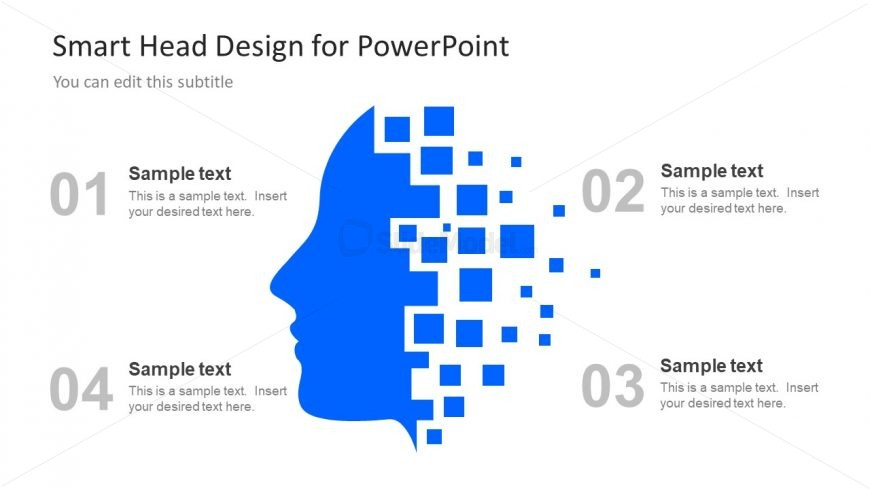 Silhouette PowerPoint Slide Human Head