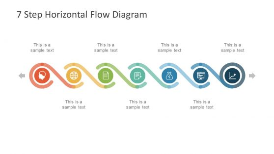 Business process powerpoint templates 7 step horizontal flow diagram for powerpoint cheaphphosting Gallery