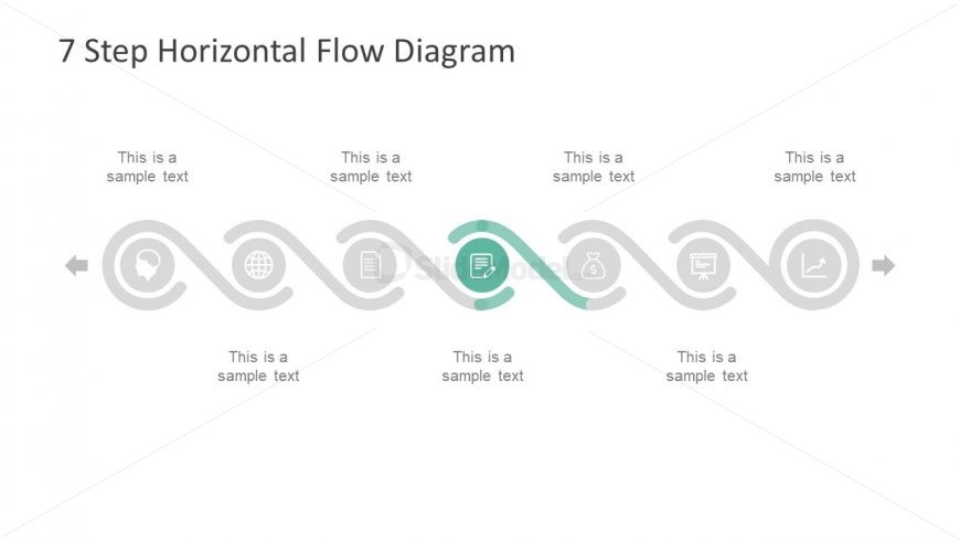 slides of horizontal timeline infographics