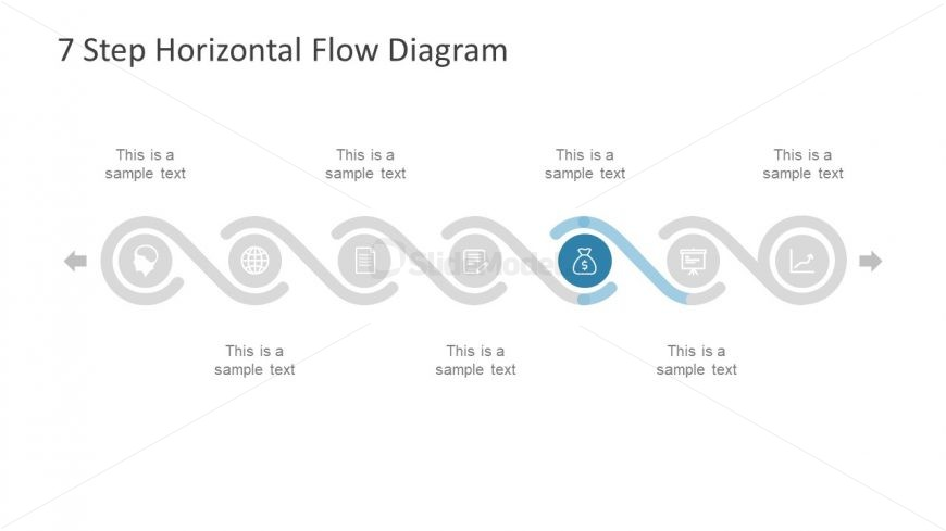 7 step horizontal diagram ppt