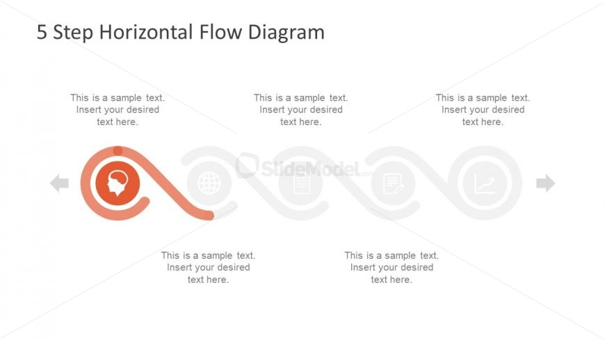Template of Infographic Process Flow diagram