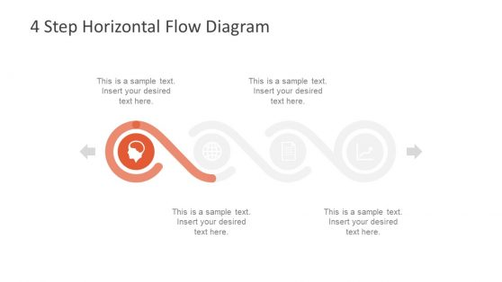 Horizontal Flow Timeline Template