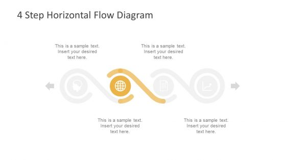 Infographic PowerPoint Horizontal Flow Timeline