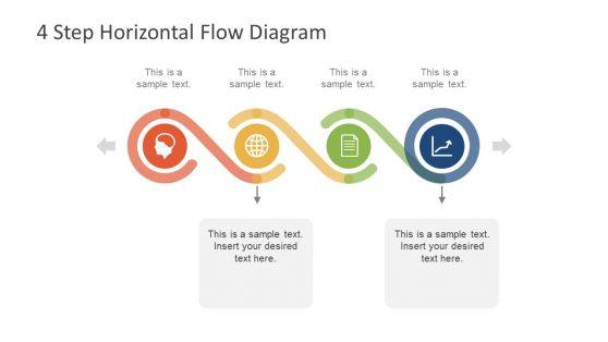 PowerPoint 4 Step Horizontal Flow Diagram