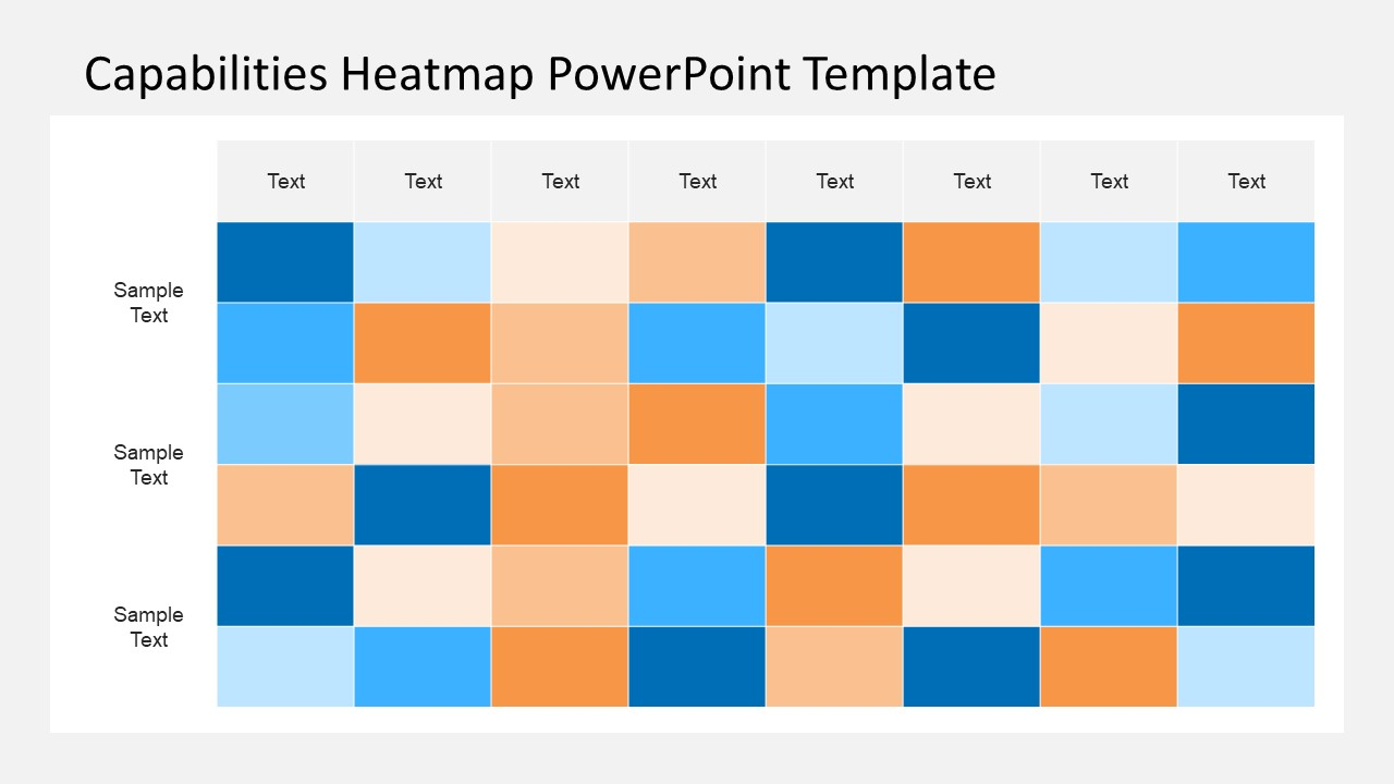 business capability map template - capabilities heatmap powerpoint template slidemodel