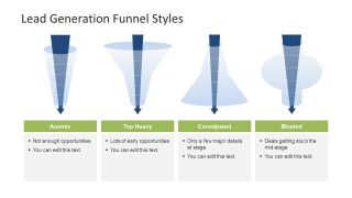 4 Lead Generation Funnel Styles Template for PowerPoint