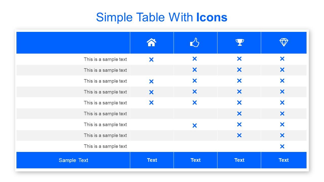Comparison Table Design Slide
