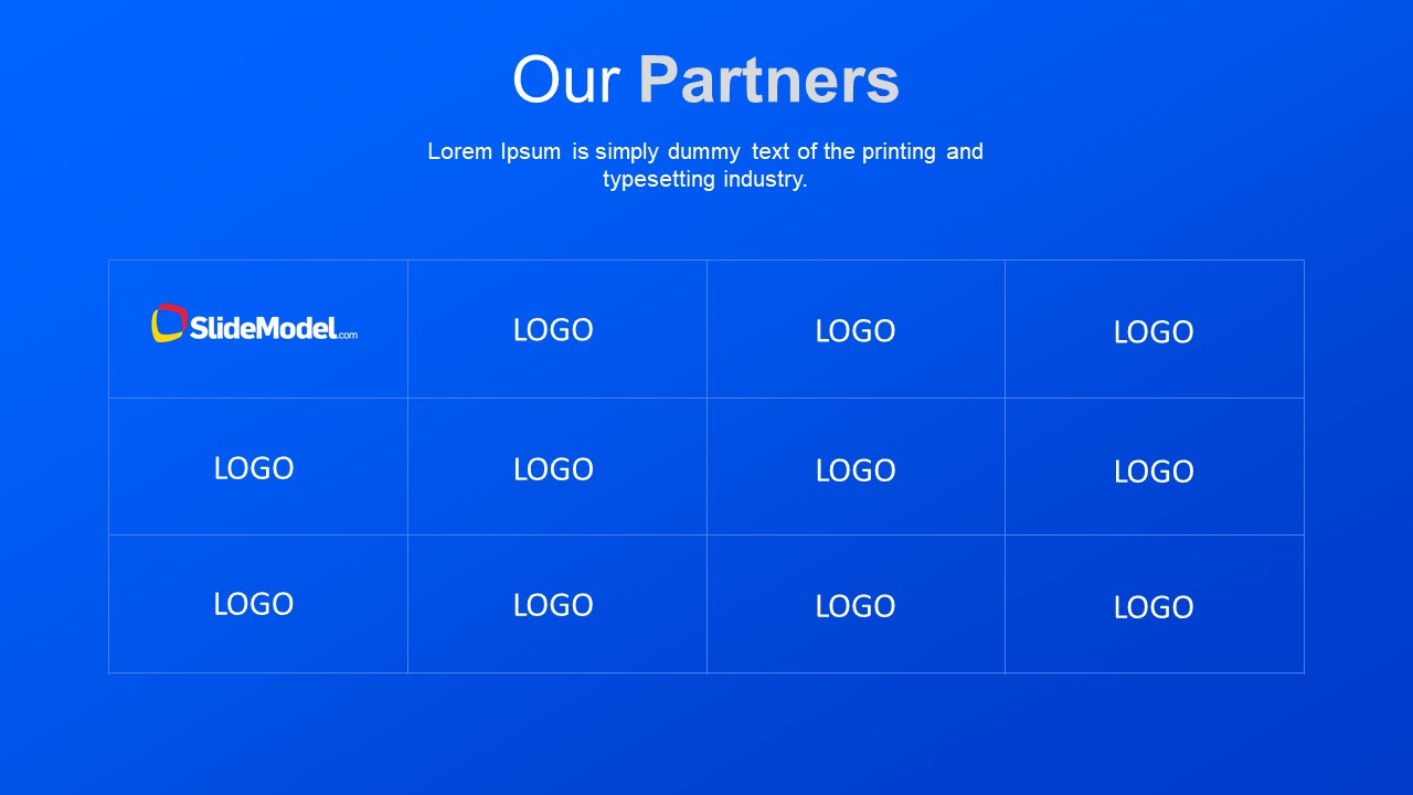 Brand Logo Slide to Present Partners