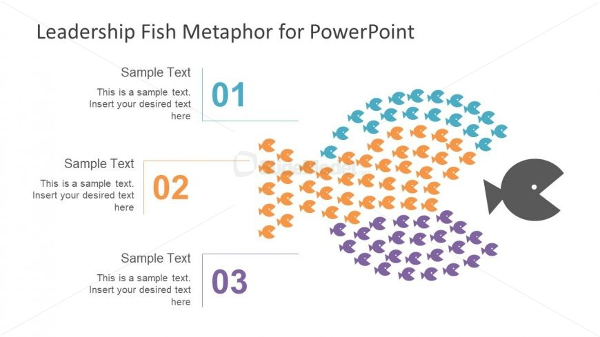 Fish Shoal Diagram Design for Leadership