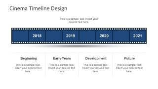 Cinema Timeline Template for PowerPoint