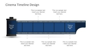 Blue Film Reel Graphics for Film