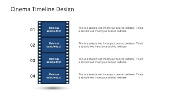 Vertical Cinema Timeline Design PPT