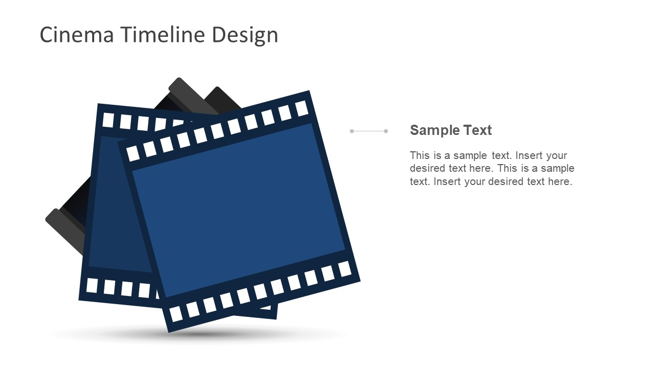 cinema timeline template for powerpoint slidemodel