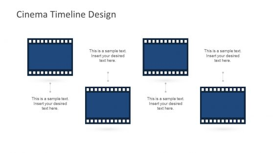 4 Step Diagram Film Reel Shape PowerPoint