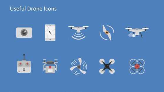 Slide of Drone and Smart Device Icons