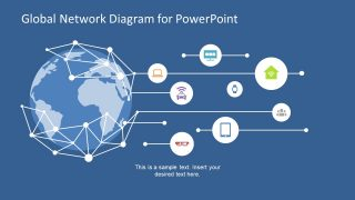 Global Network Diagram for PowerPoint