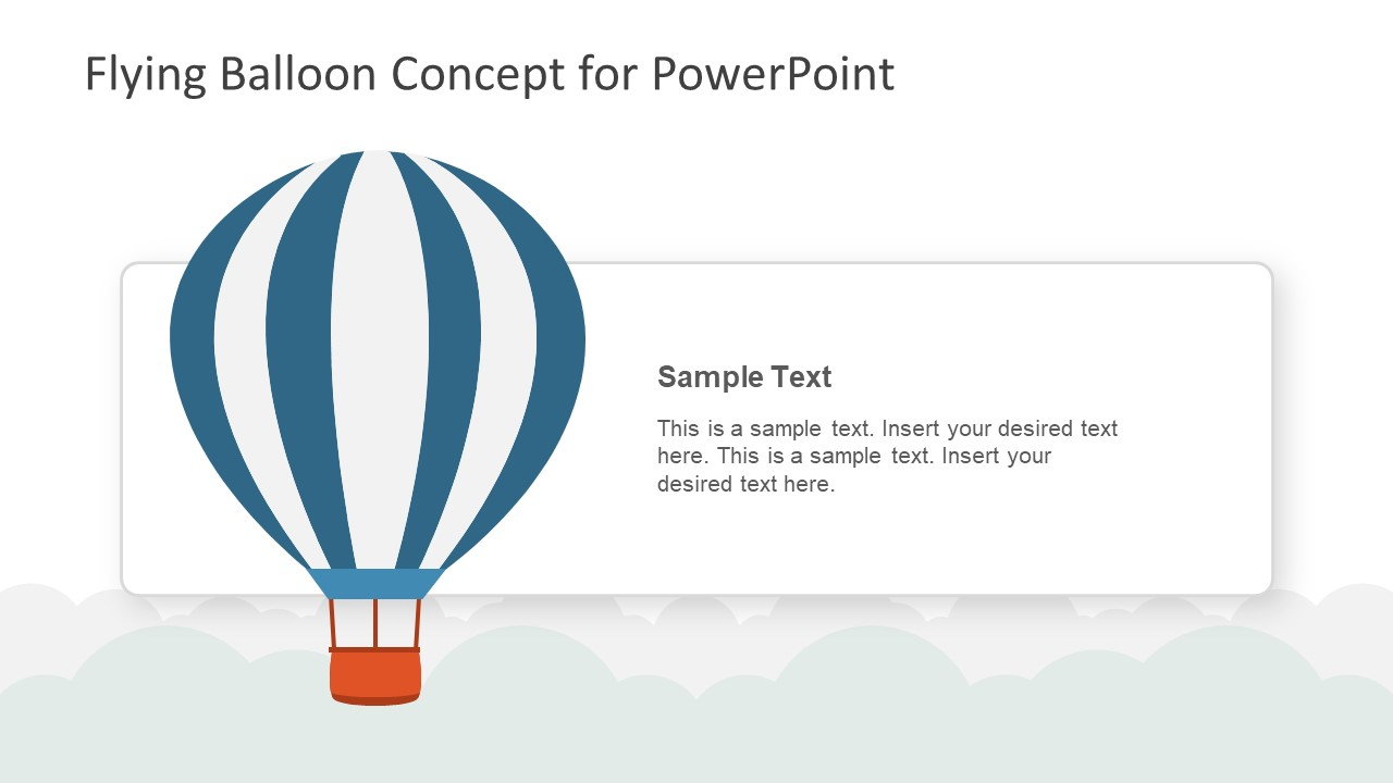 photo regarding Hot Air Balloon Pattern Printable named Traveling Balloon Thought PowerPoint Template