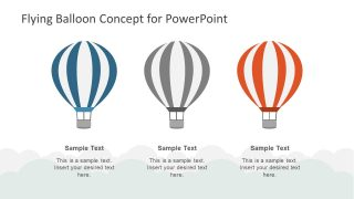 Creative 3 Step PowerPoint of Balloon