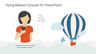 Flying Balloon PowerPoint WiFi