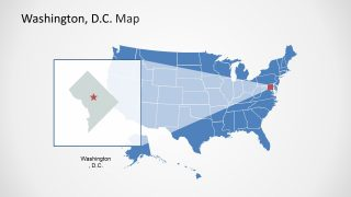 Map of United States and Washington DC Slide