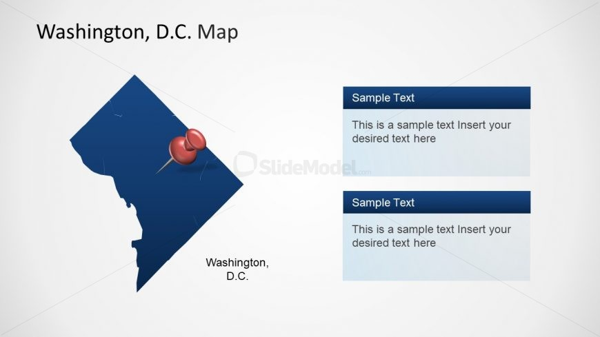 Template of Washington DC Clipart Map