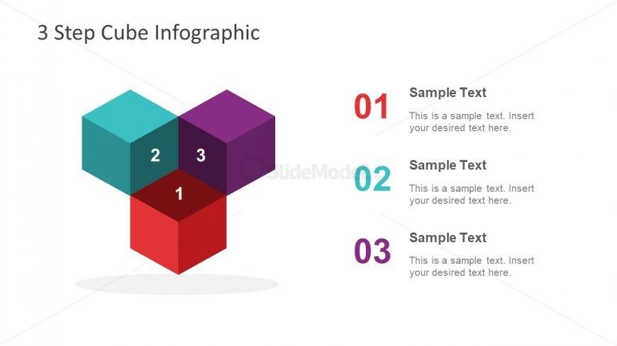Cubes Diagram PowerPoint Shapes