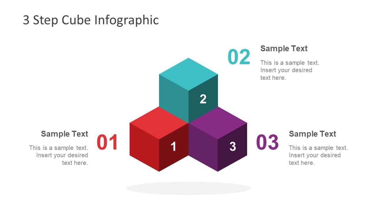 3 Steps Slide Pyramid Diagram