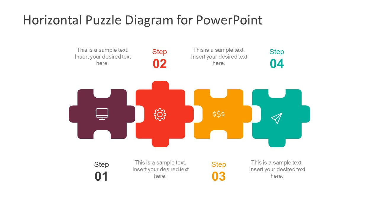 Infographic Puzzle Pieces 4 Step