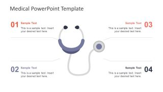 4 Step PowerPoint Template with Stethoscope