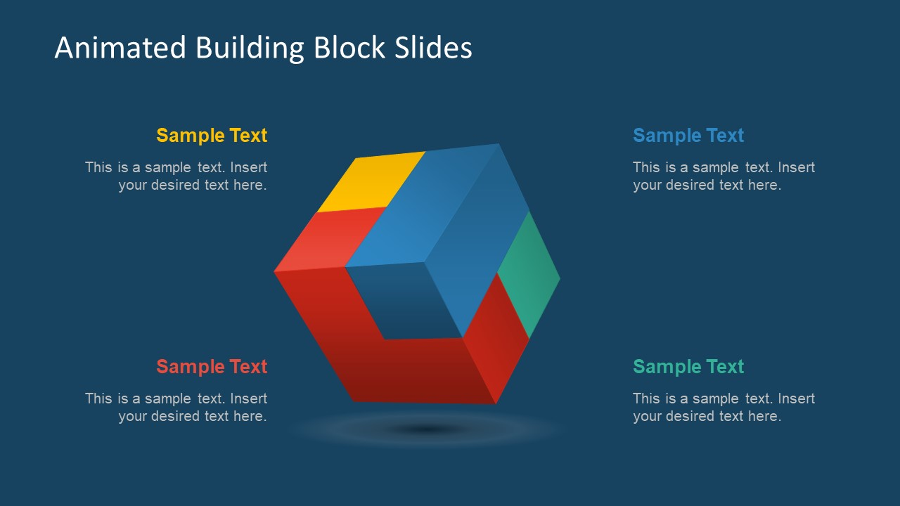 animated building block slides for powerpoint slidemodel