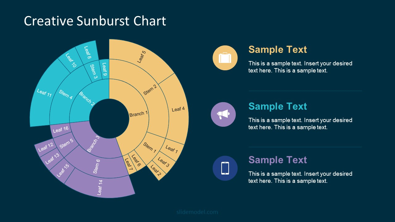 Unique Sunburst Chart Diagram