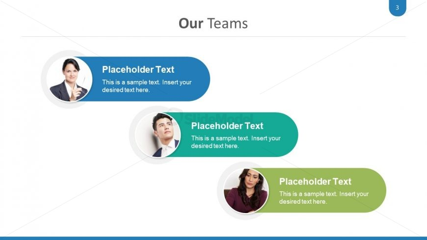 Team Slide of Three Segments