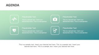 4 Segment Infographic Agenda PowerPoint