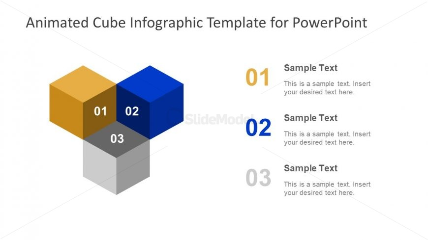 3 Cube Segments Diagram Slide