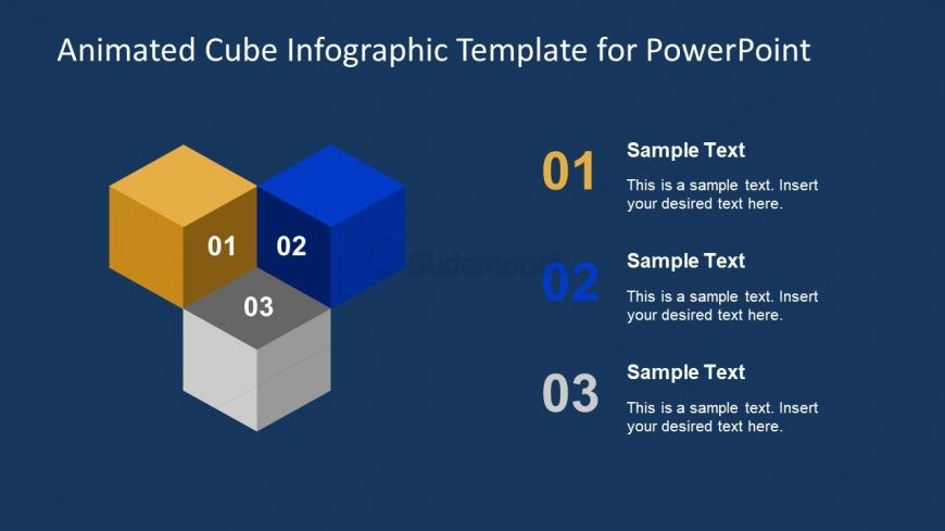 Template of Animated Cube Diagram