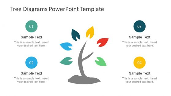 4 Step PowerPoint of Tree Diagram