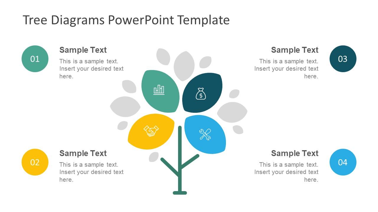 Infographic Tree Diagram Segments