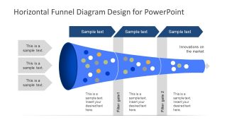 Horizontal 3 Stages PowerPoint Templates Funnel Diagram