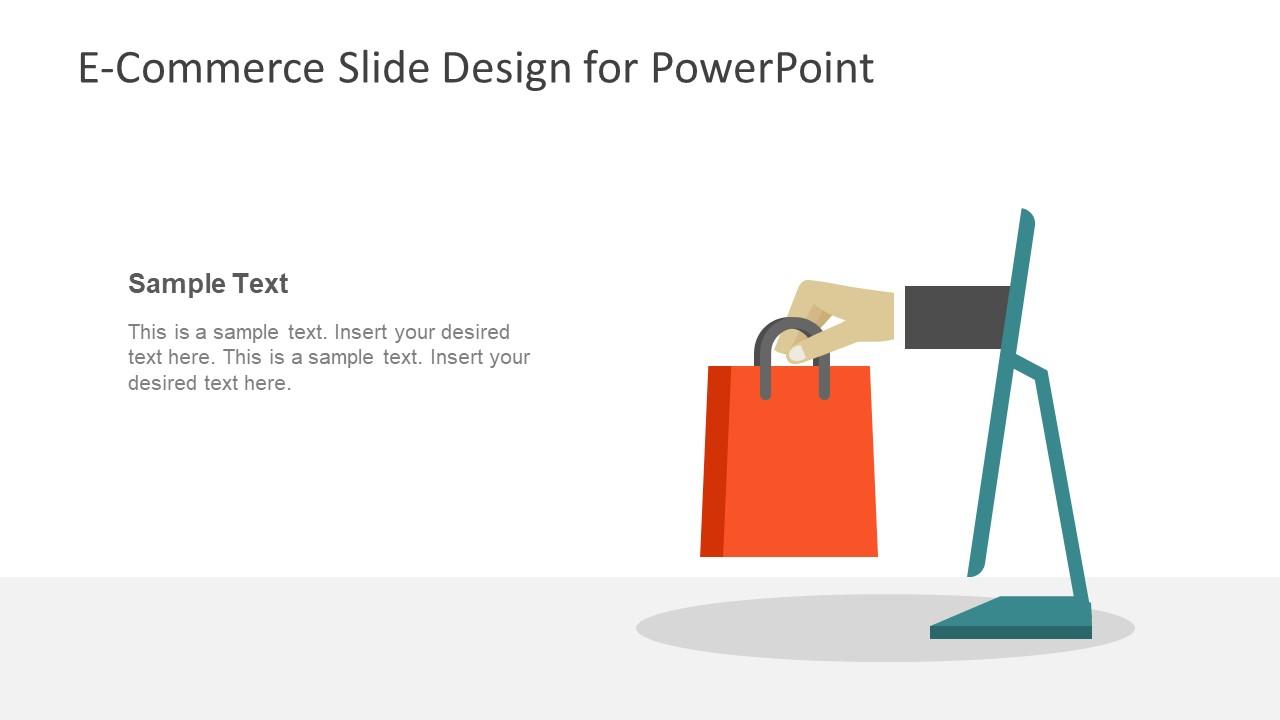 Editable Sellers Slide Shopping Bag