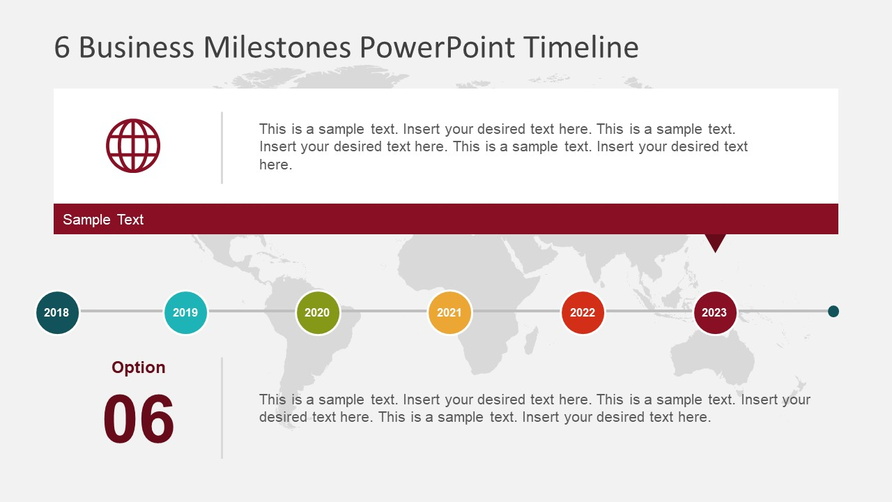 6 business milestones powerpoint timeline slidemodel