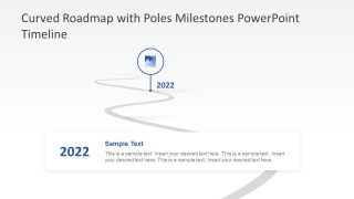 Curved Roadmap and Poles Illustration